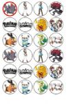 24 x Pokemon Black & White Rice Wafer Paper Cup Cake Toppers